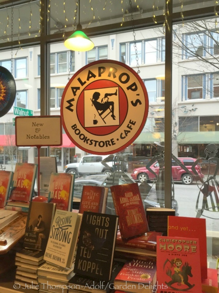 Independent bookstore and café Malaprop's in downtown Asheville is a literature lover's dream destination.