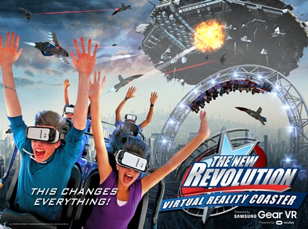 The New Revolution. Photo credit: Six Flags.
