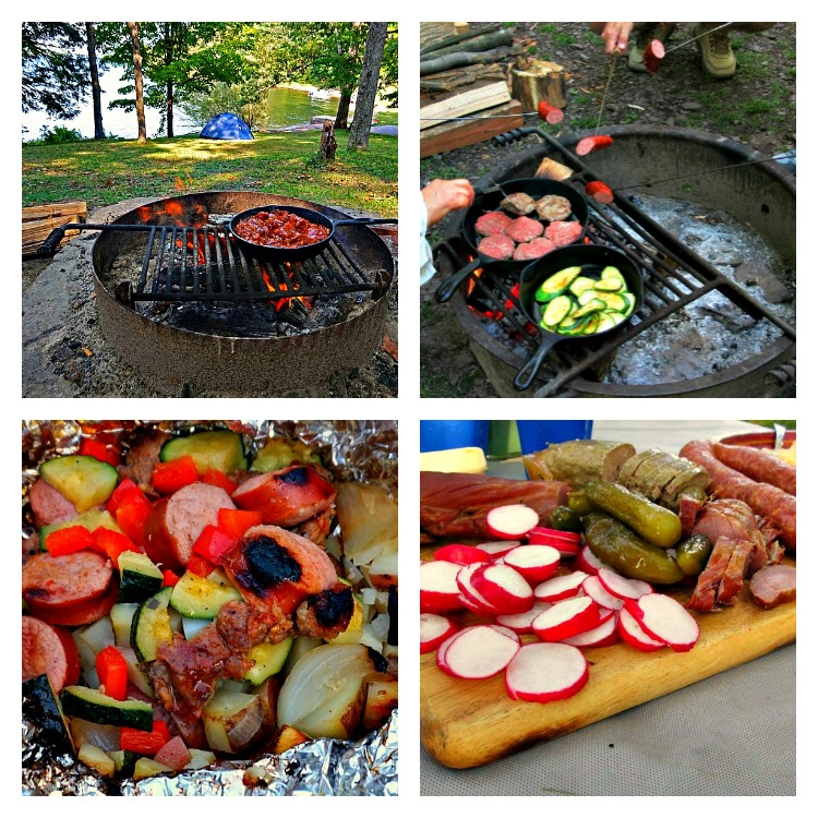 Keep cooking simple while camping - photo by Yvonne Jasinski Credit Card TravelingMom