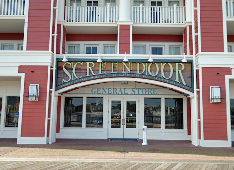 Dining at Disney's Boardwalk includes groceries from the Screen Door General Store