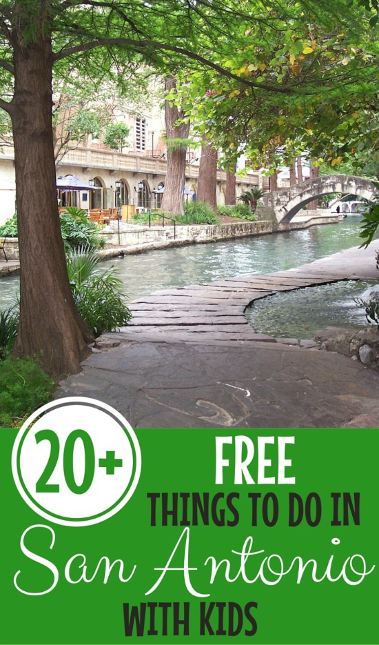 20+ Free things to Do in San Antonio- Fun and Free! There are a ton of no cost options for families in the Alamo City including the San Antonio Riverwalk and more.