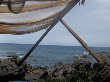 The view from lunch at a beachside cafe in Tenerife. Photo by Dia Adams