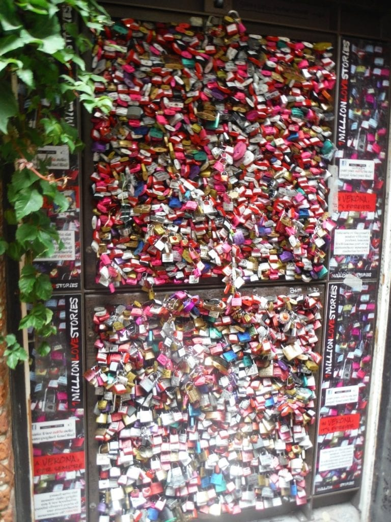 Verona Wall of Love Locks