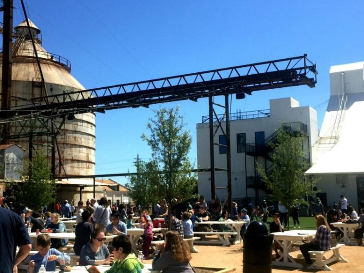 Spend some time on the lawn with your family at the Silos in Waco, Texas!