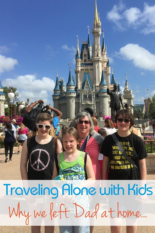 Taking a Disney family vacation without Dad