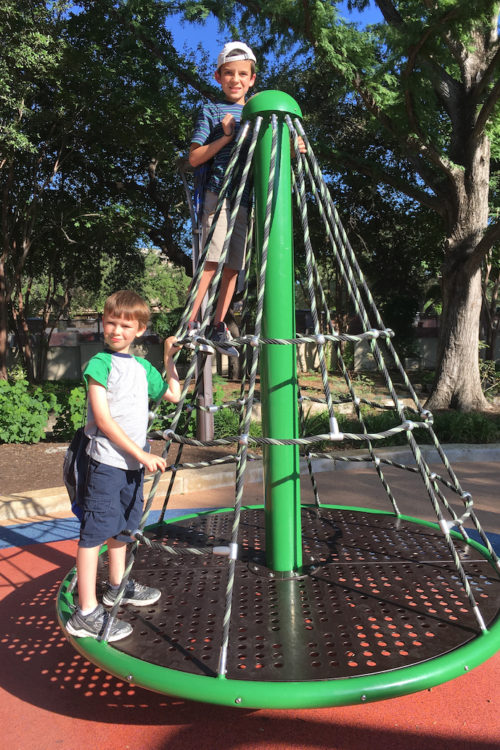 Need to run around? Try Yanaguana Garden in HemisFair Plaza, a fabulous new playscape that my tweens loved. San Antonio