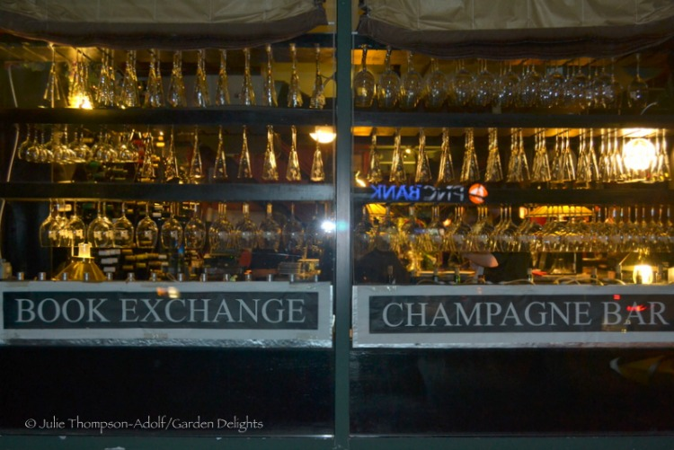 Battery Park Book Exchange and Champagne Bar is the perfect place to visit in downtown Asheville for a sip of bubbly while book browsing.