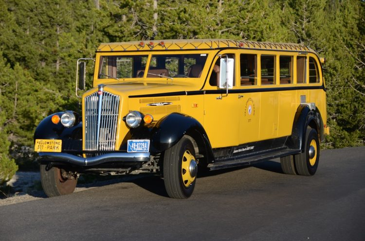 Yellowstone antique bus
