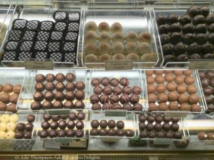 Handcrafted artisan chocolates at Chocolate Gems prove the perfect afternoon treat for weary tourists.