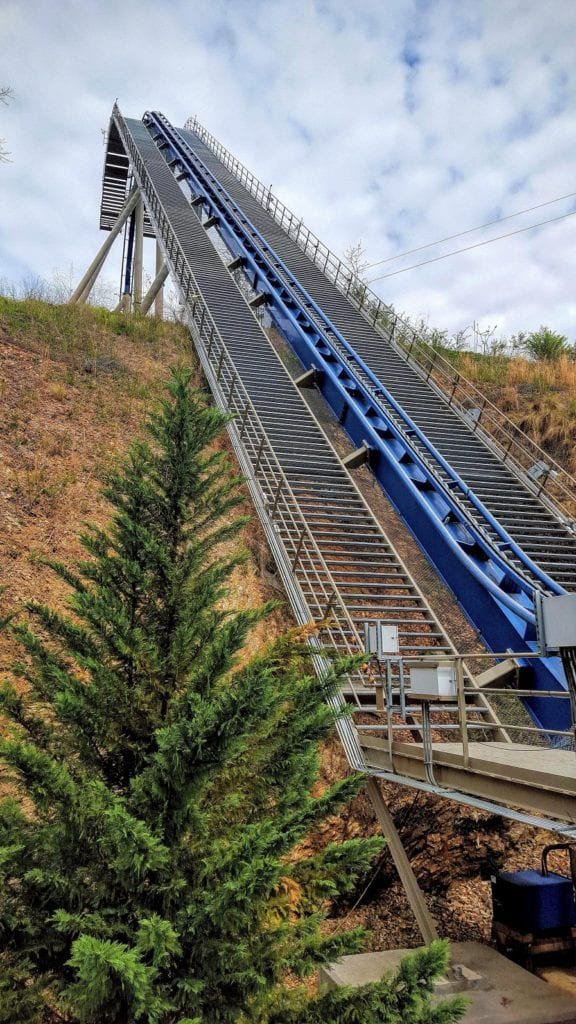 Dollywood has become known for impressive roller coasters like this one, called the Eagle.