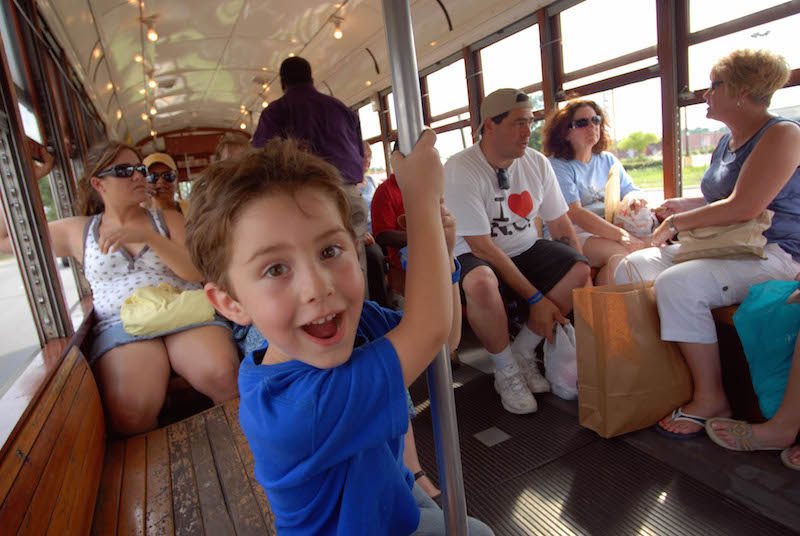 The streetcar is not free, but it's a still fun thing to do & great way to see New Orleans with kids.