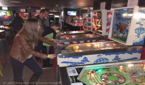 Pinball machines and vintage arcade games entice players of all ages at the Asheville Pinball Museum.