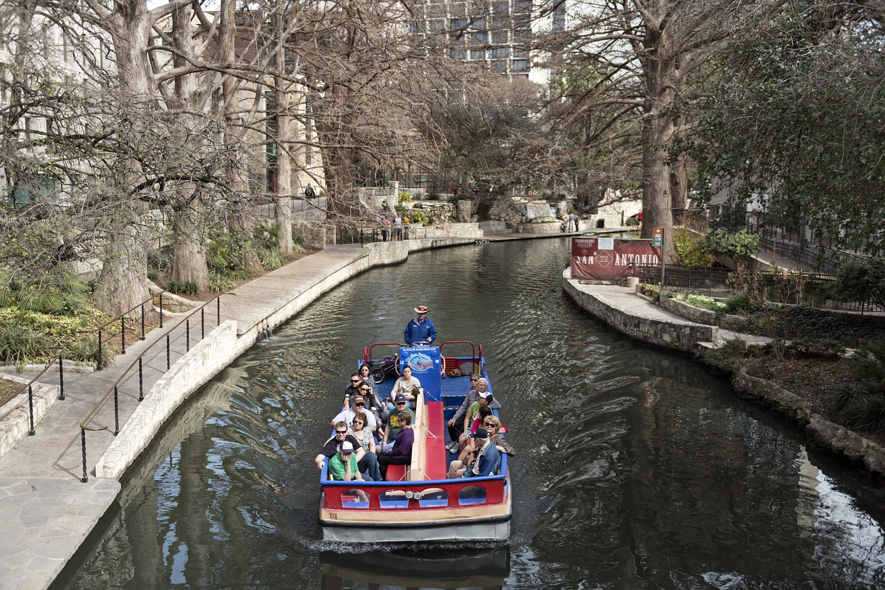 The Riverwalk is one of the free fun things to do in San Antonio.
