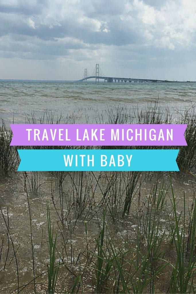 Pinterest image of Lake Michigan with Baby