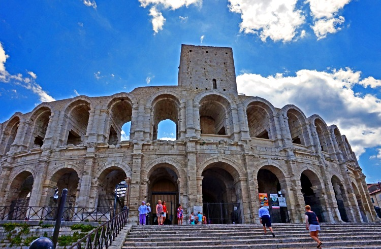 Lavender fields in Provence France - how to plan a trip. Roman arena in Arles, Provence