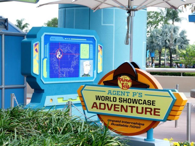 Agent P's World Showcase Adventure Epcot is just one of the best free things at Disney World!