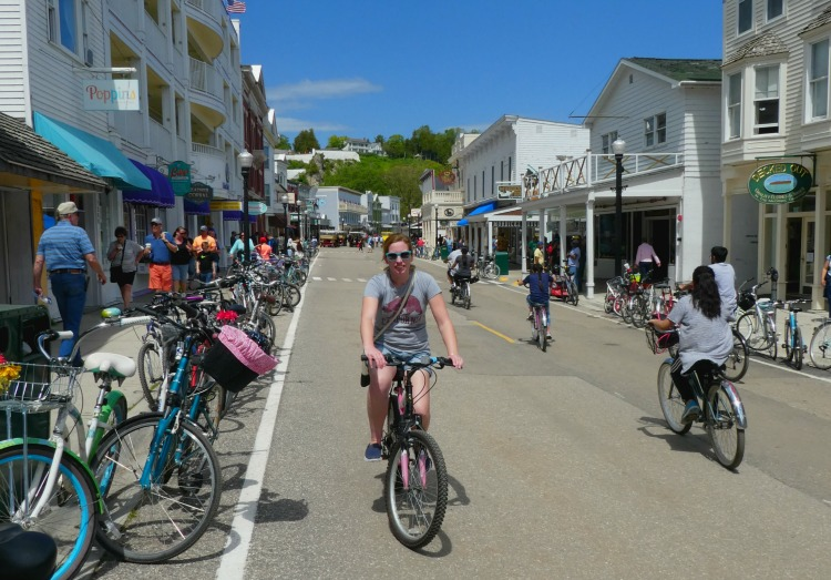 Bike Riding Mackinac Island, Michigan.