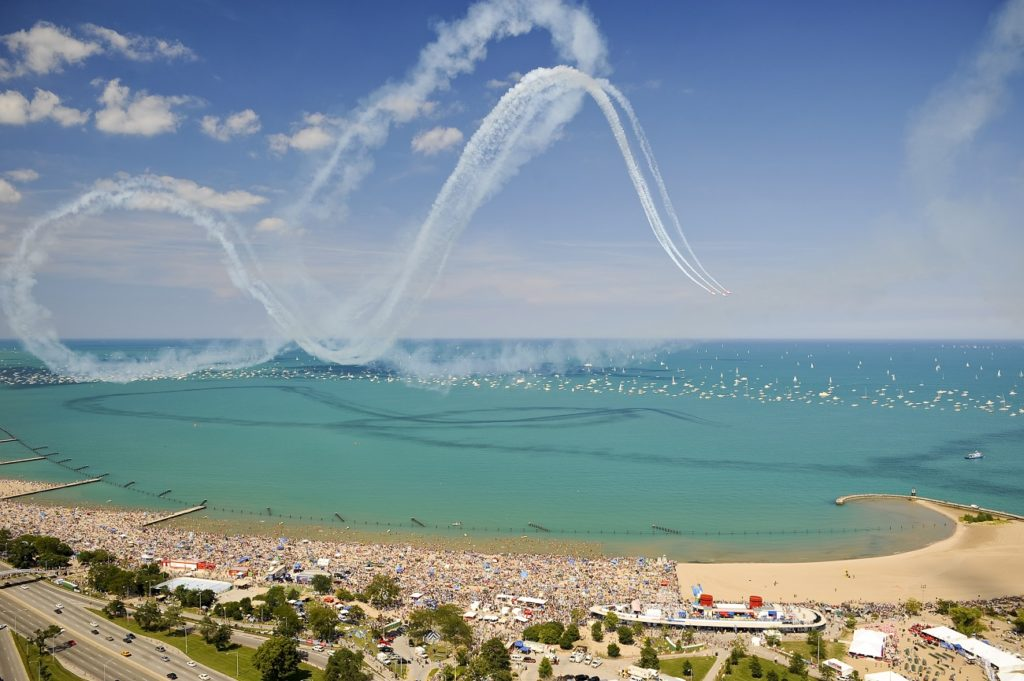 Photo courtesy of Choose Chicago Chicago's Air & Water Show draws huge crowds to the lakefront.