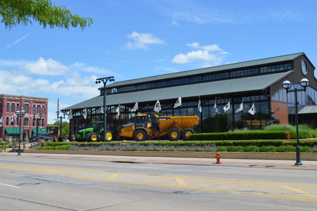 The John Deere Pavilions is just one of the free things to do with kids in the Quad Cities, Iowa and Illinois