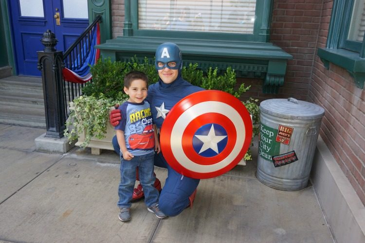 New characters, like Captain America, present fun photo opportunities for everyone that visit Disneyland, Photo by Kristi Mehes