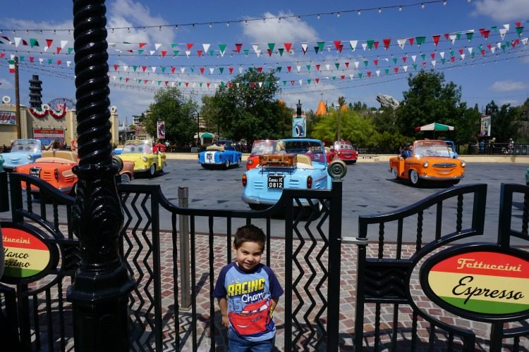Luigi's Rollickin' Roadsters in Cars Land is one of the newer attractions at Disneyland this year, Photo by Kristi Mehes.