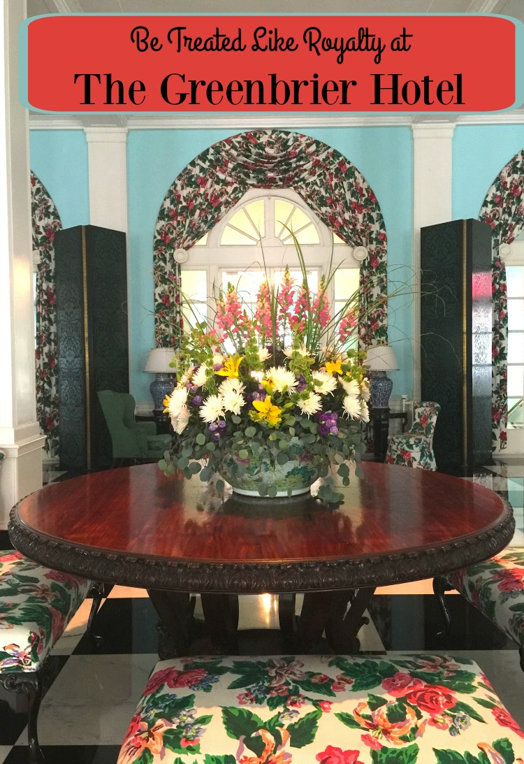 If you want the royal treatment, visit The Greenbrier resort in West Virginia (Photo Philadelphia TMOM Sarah Ricks)