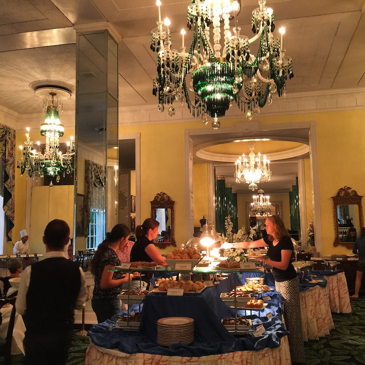 Enjoy the luxury breakfast at Greenbrier resort in West Virginia
