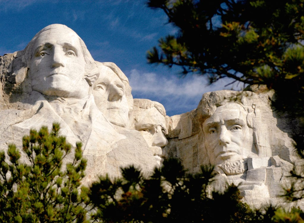 Mount Rushmore National Memorial, Black Hills, South Dakota,