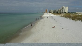 Free things to do in Panama City Beach Florida - walk on the expansive white sand beach.