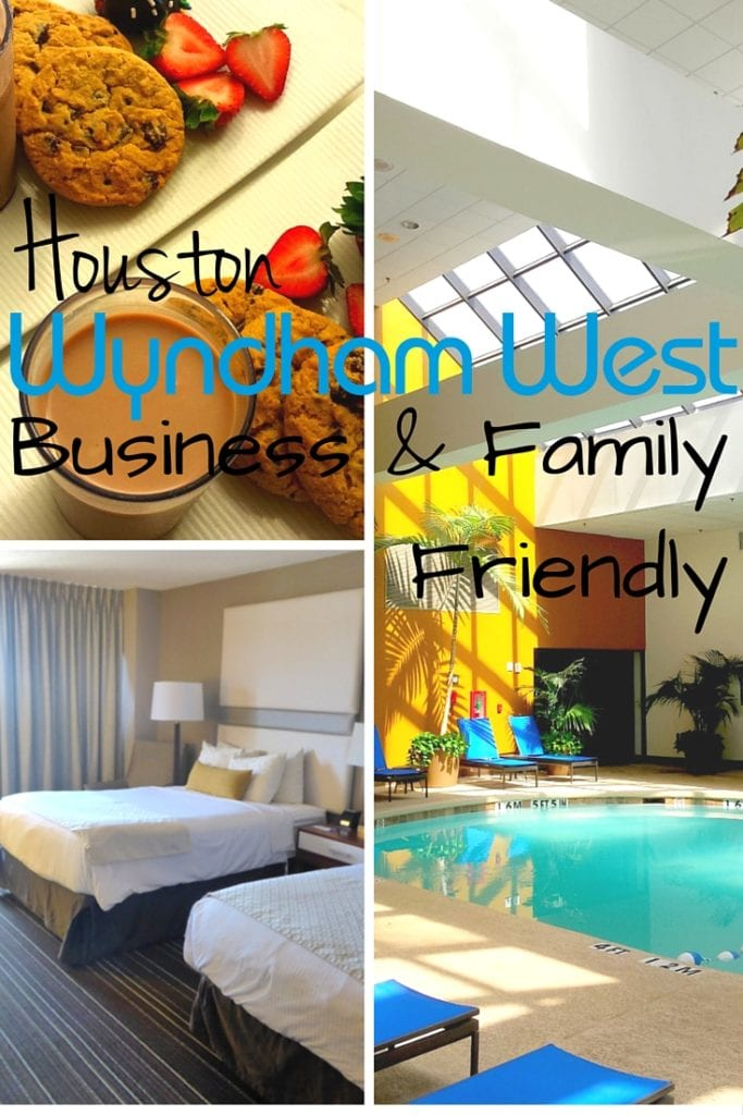 The Wyndham Houston West delivers on family friendly amenities OR a great business hotel. A rare feat for one hotel.