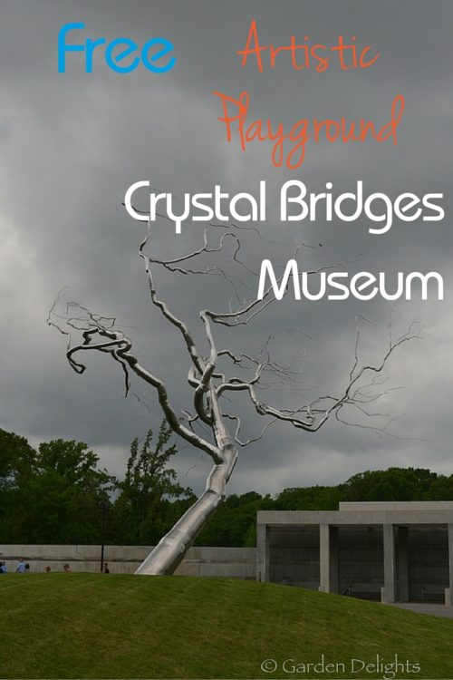 You will be delighted inside and out by the beauty of Crystal Bridges Museum. Its garden and first rate art museum are both free in Bentonville, AR.