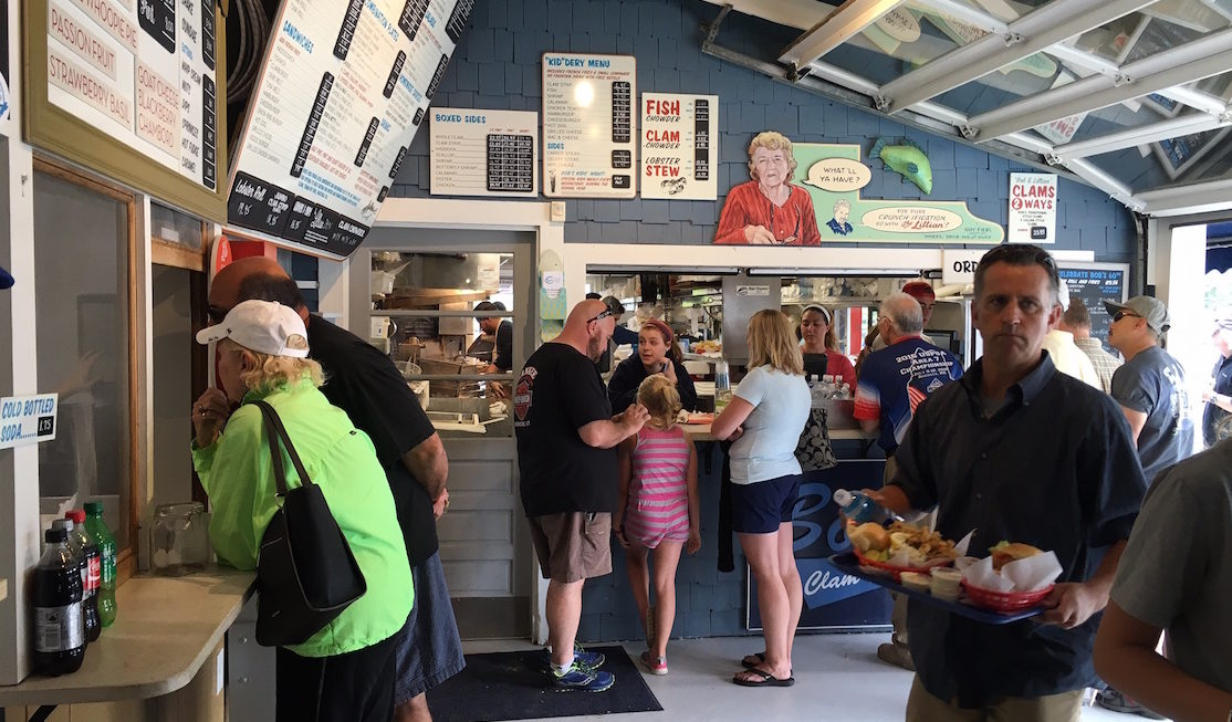 Line up at Bob's Clam Hut for best roadside seafood in Kittery, Maine