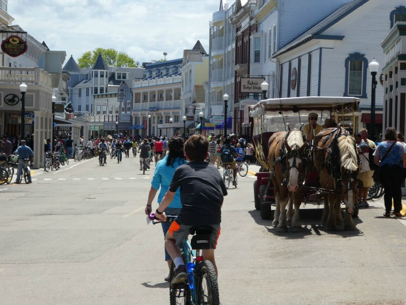 Bike Riding Mackinac Island Michigan
