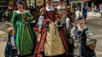 The queen's court at Bristol Renaissance Faire.