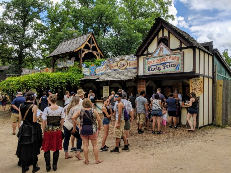 Food lines at Bristol Renaissance Faire.