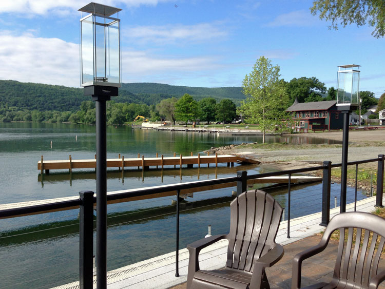 Morning on the dock at Keuka Lakeside Inn, Finger Lakes, NY