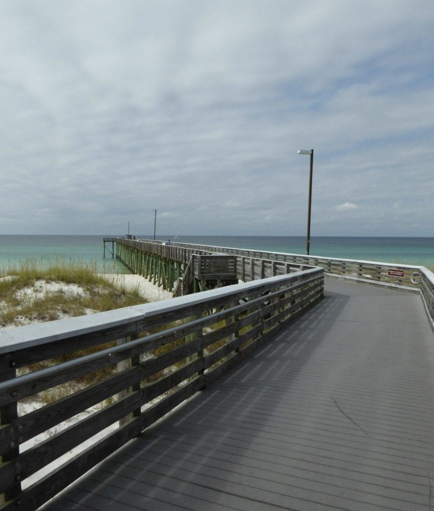 Free things to do in Panama City Beach Fl - take the boardwalk over to the expansive white sand beach.