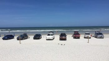 Park on wide Daytona beaches but drive slowly.
