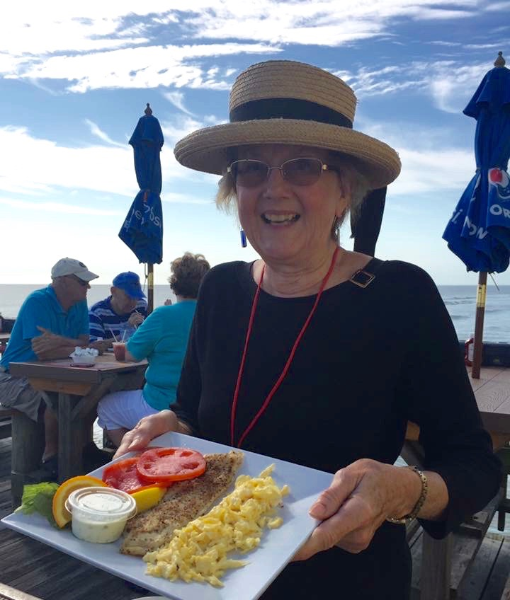 Seaside dining balances excursions to other areas of Daytona. Photo of Cultural Heritage Traveling Mom courtesy Melody Pittman.