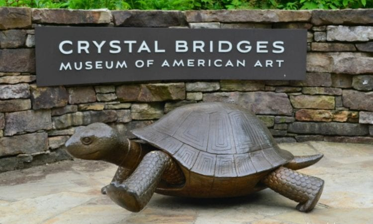 "The immortal story of the ""Tortoise and Hare"" engage children in art at Crystal Bridges."