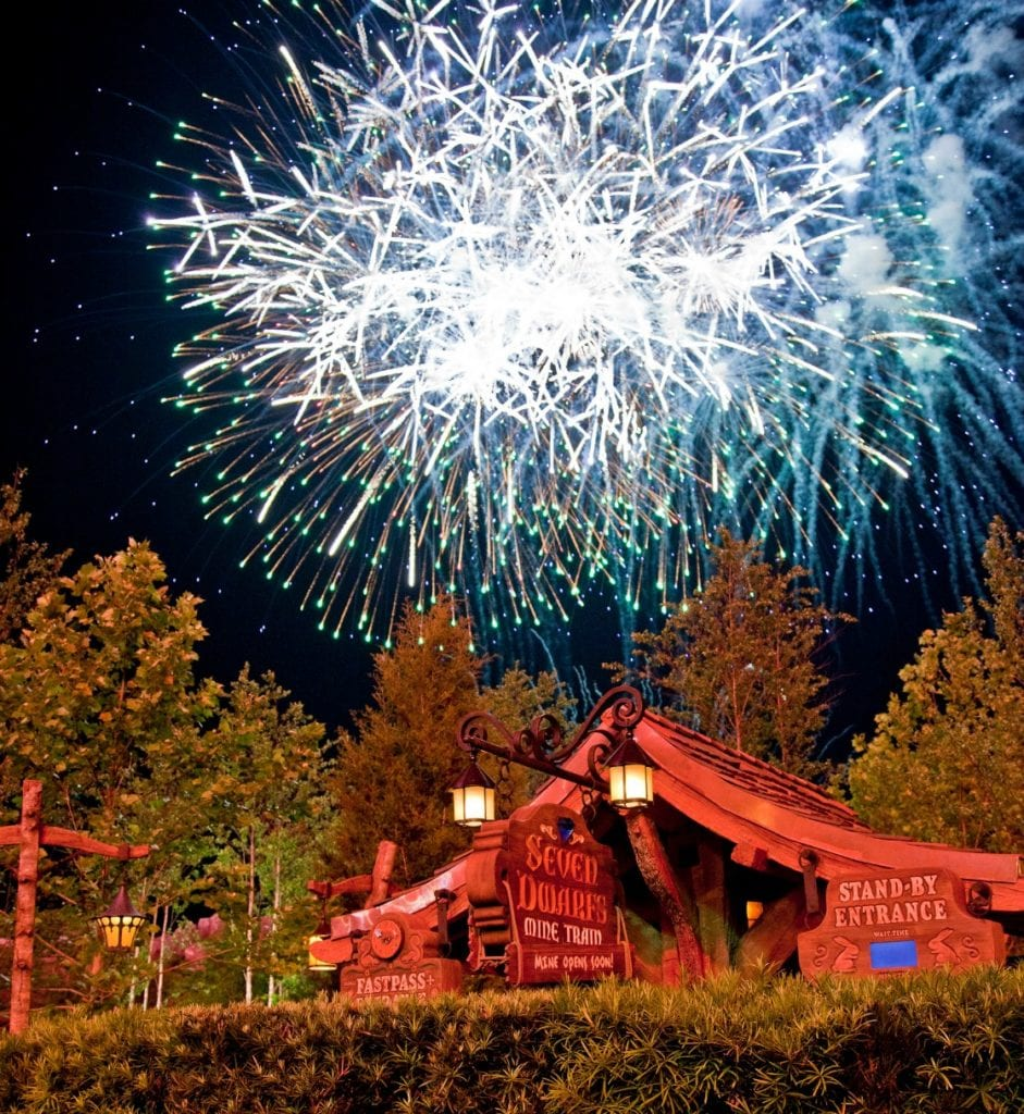 Wishes as seen from Fantasyland disney world vacation