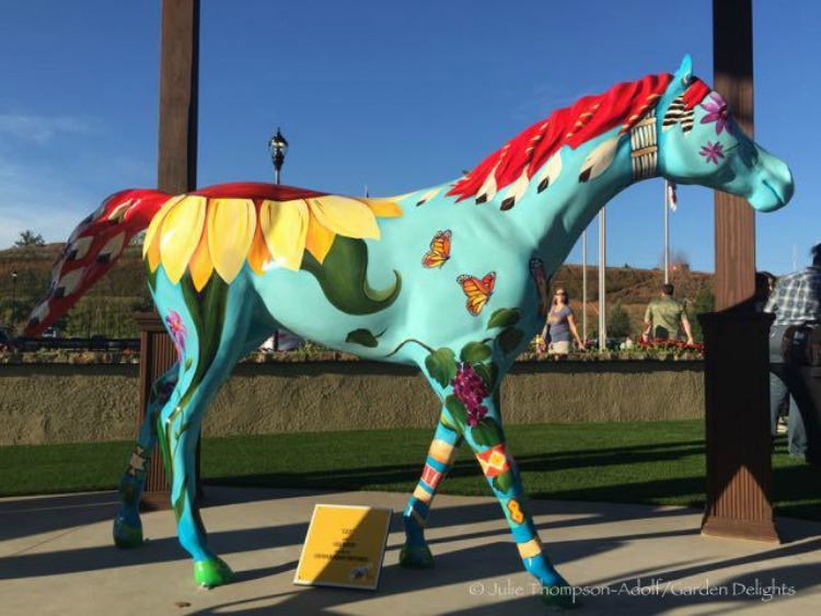 Art horse competition at Tryon International Equestrian Center.