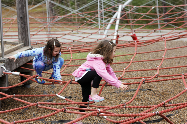Young children will love playing at the Woodland Discovery Playground in Shelby Farms Park in Memphis, Tennessee.