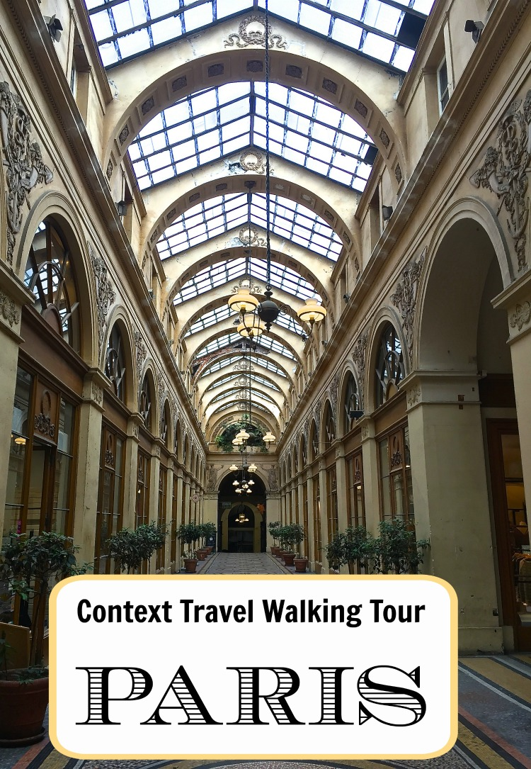 Enjoy a Context Travel walking tour of Paris architecture - or food, art, history.