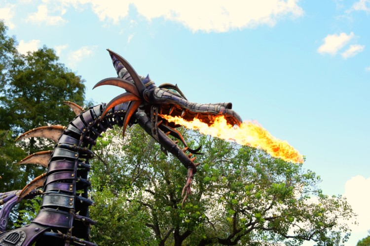 Festival of Fantasy Parade Dragon - one of the best parades at Walt Disney World.