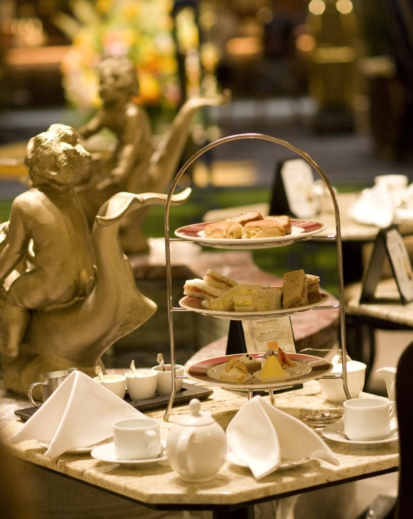 Afternoon Tea at The Drake Hotel is served in the beautiful Palm Court room.