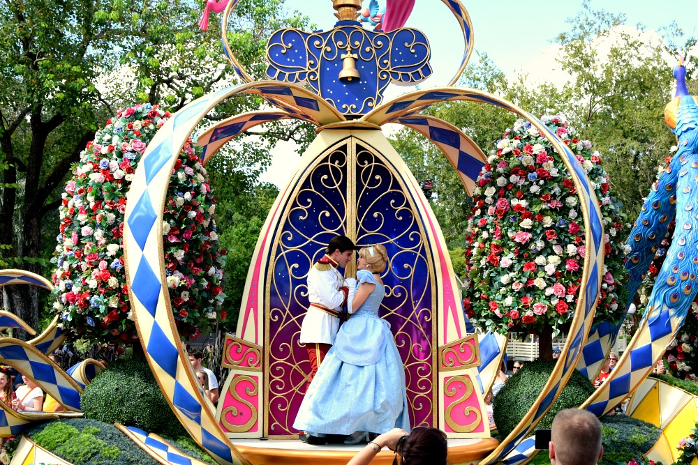 Cinderella in Festival of Fantasy Parade - one of the best parades at Walt Disney World.