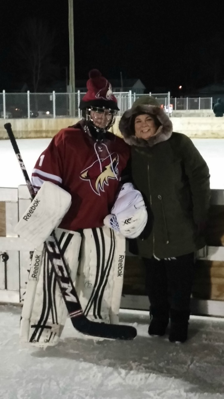 Business trip travel tips - find time for fun even in the cold with outdoor hockey in Minnesota.