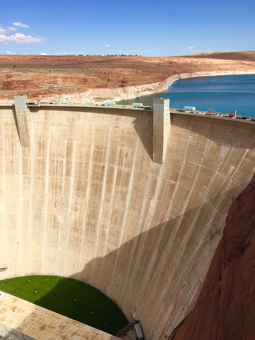 Glen Canyon Dam, Viator 3 day National Park tour, Lake Powell