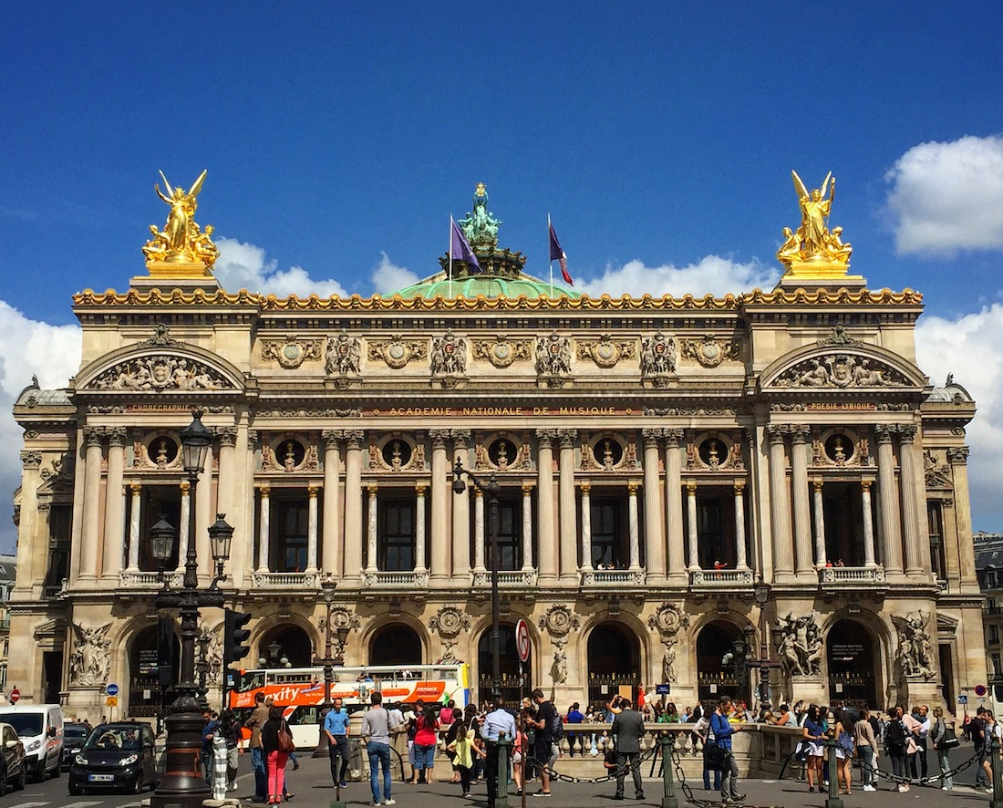 Walking tour of Paris includes the Opera House exterior